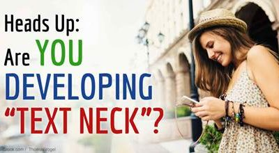 """Are you developing """"Text Neck""""?"""