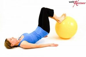 Stability Ball Leg Curl