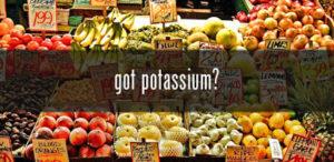 Inadequate potassium consumption