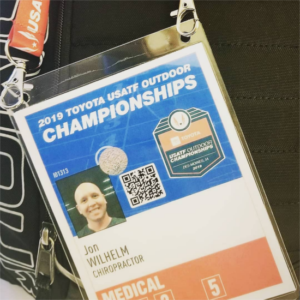 Dr Jon at USATF outdoor championships - Pro Chiro Bozeman, MT